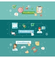 Feedback web infographic vector image