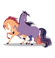 two horses vector image