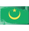 Mauritania national flag vector image vector image