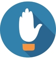 Up hand sign vector image