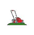 Lawnmower Front Isolated Cartoon vector image