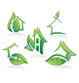 eco homes and ecological property vector image vector image