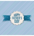 Happy Fathers Day festive Label with Ribbon vector image