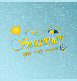 enjoy summer background with umbrella sun water vector image