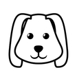 face dog animal pet ear long outline vector image
