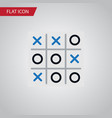isolated tic-tac-toe flat icon x-o element vector image