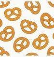 mini salt pretzel hand draw sketch vector image