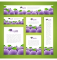 Set of Plums Banners vector image