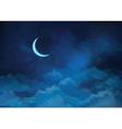 sky moon vector image
