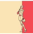 stylish woman in full length after shopping vector image
