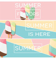Three modern typographic summer poster designs vector image