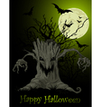 Scary tree background vector image