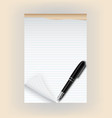 Tear pad with pen vector image vector image
