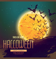 halloween background with flyeing bats vector image