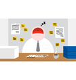 A Worker Sleeping in his Office Room vector image