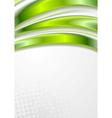 Bright green waves grunge design vector image vector image