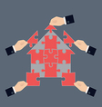 Team work concept vector image