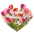Mothers day card with roses EPS 10 vector image
