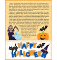 Halloween background with text vector image