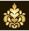 Gold pattern on dark background vector image