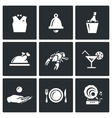 Set of Restaurant Icons Waiter Call vector image