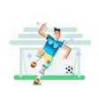 Soccer player flat design vector image vector image