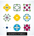 Business symbols icon set Geometric concept vector image