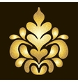 Gold pattern on dark background vector image