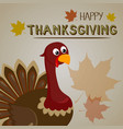 thanksgiving turkey background happy thanksgiving vector image