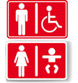 Restroom men women baby handicapped vector image vector image