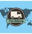 car delivery service icon vector image
