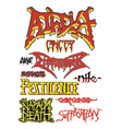 old school death metal vector image