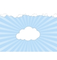 White clouds over blue sky vector image vector image
