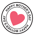Mothers day postage stamp vector image vector image