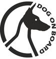 Dog on board vector image