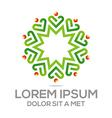 Logo Love People Heart Business Creative vector image