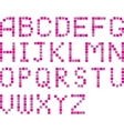 pixel alphabets vector image
