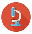 Flat Science and Medicine Laboratory Microscope vector image