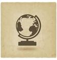 globe design element old background vector image