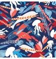 pattern sea creatures vector image