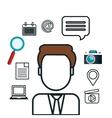 avatar social media design isolated vector image