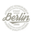 berlin sport t-shirt design vector image