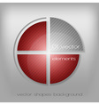 business circle red gray vector image