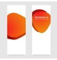Flyer template header design circles vector image