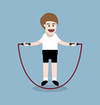 jumping rope exercise vector image