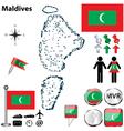 Map of Maldives vector image
