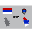 Map of Serbia and symbol vector image