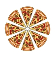 modern pizza isolated on white vector image