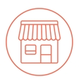 Shop line icon vector image