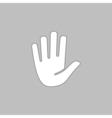 Stop hand computer symbol vector image